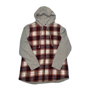 Ruff Hewn Flannel Hoody red XL